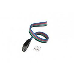 Konektor 4-PIN pro RGB LED pásky o šířce 10mm s vodičem